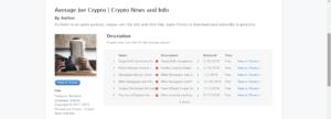 crypto podcast | average joe crypto podcast